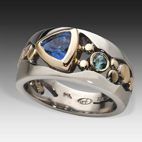 Couple Rings, Fashion, lover gifts, Blue Sapphire