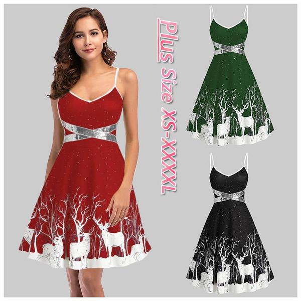Sleeveless dress, Christmas, christmasdre, christmasprintdre