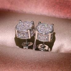 Sterling, Princess, Stud Earring, wedding earrings