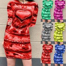 Heart, printeddres, Love, short dress