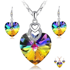 Sterling, Heart, Crystal Jewelry, sterling silver