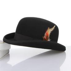 bowler hat, Wool, Fedora, unisex