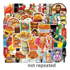 Kawaii, Car Sticker, Bottle, stickersset