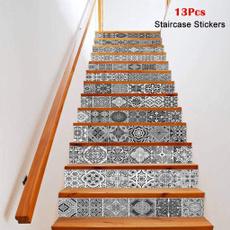 stairway, Decor, stairriser, Home Decor