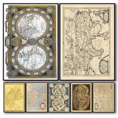 Antique, Coffee, nationalgeographic, worldmap