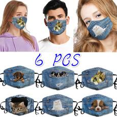 reutilizável, máscaradealgodão, plugável, moderno