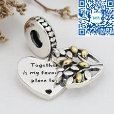 Charm Bracelet, Sterling, Family, 925 sterling silver