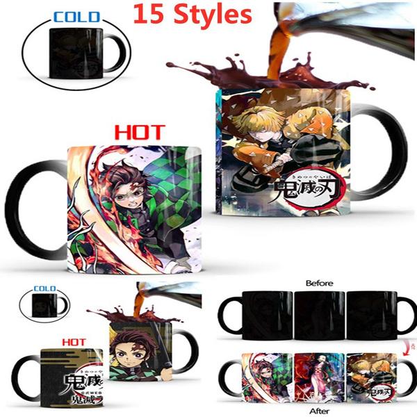 Coffee, animecartoon, Cup, heattemperaturesensitivemug