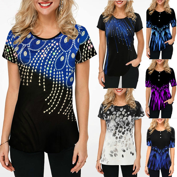 Summer, Plus Size, tunic top, summer t-shirts