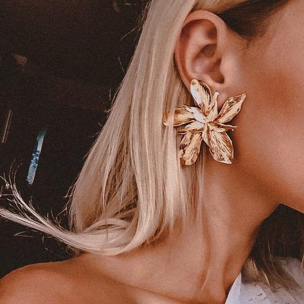 Flowers, leaf, Jewelry, gold