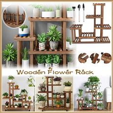 flowerpotstand, Plants, plantstand, woodenflowerstand