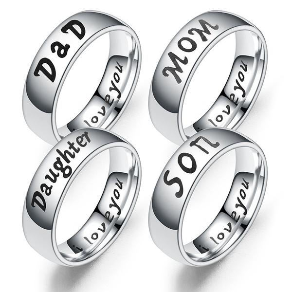 dad, Steel, daughter, Jewelry