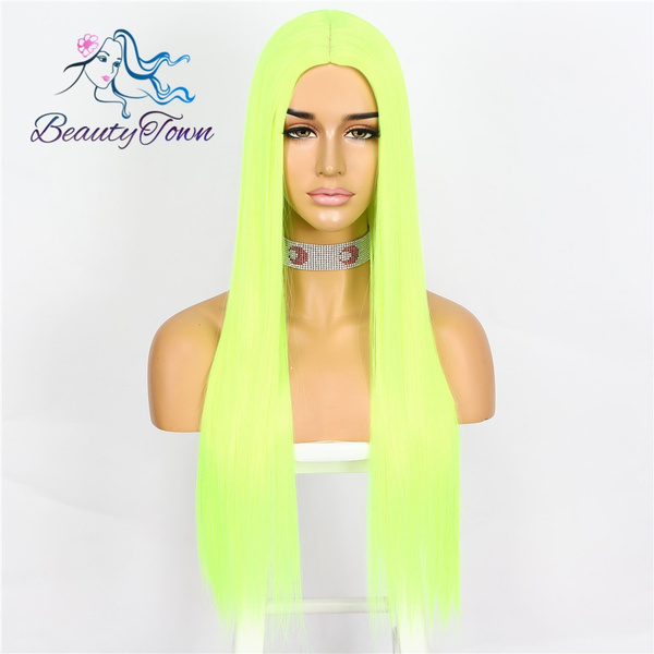 wig, Synthetic Lace Front Wigs, yellowwig, Cosplay
