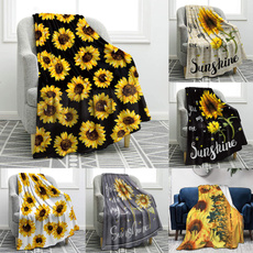 Blankets & Throws, warmblanket, Sunflowers, blanketforbed