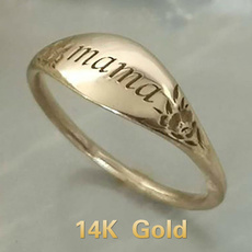 yellow gold, Fashion, 925 sterling silver, wedding ring