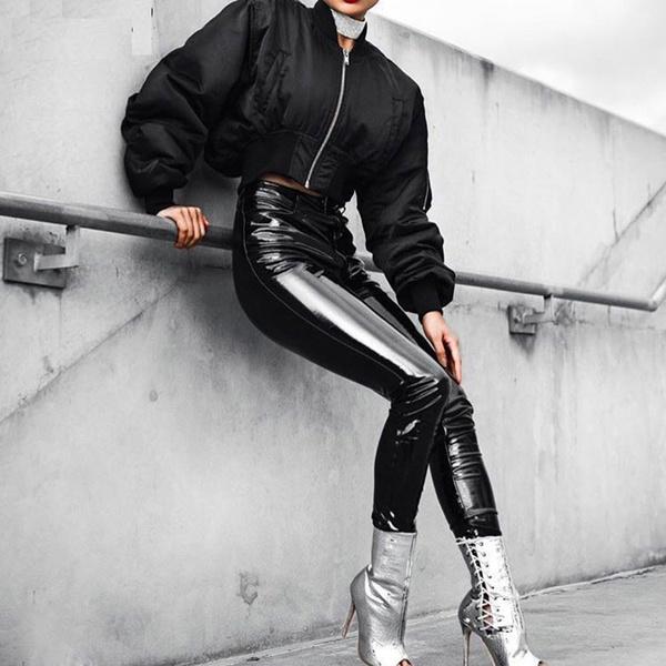 leather, Ladies, Bright, patent leather