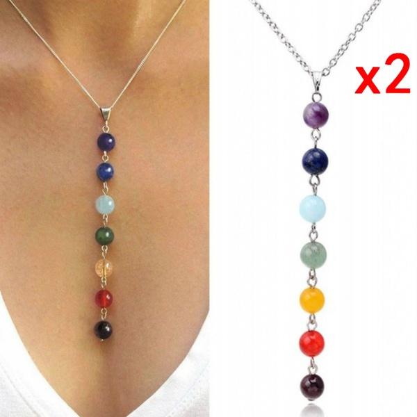 chakranecklace, Yoga, Jewelry, Chain