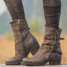 Womens Boots, Winter, Zip, leather