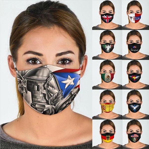 mouthmask, flagmask, americanflagmask, Masks