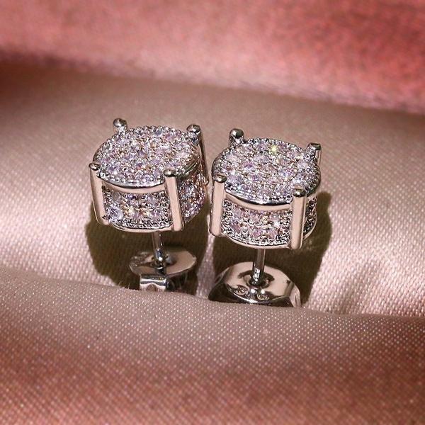 Sterling, Sapphire, Jewelry, Stud Earring