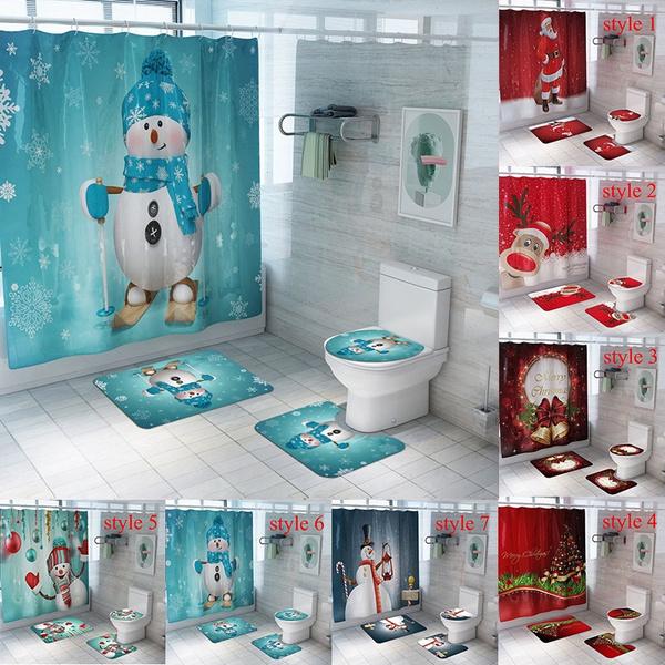 Bath, christmascurtain, rideauxdedouche, Christmas