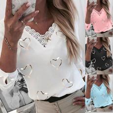 blouse, Heart, Plus Size, Lace