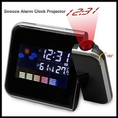 led, projector, thermometerclock, Clock