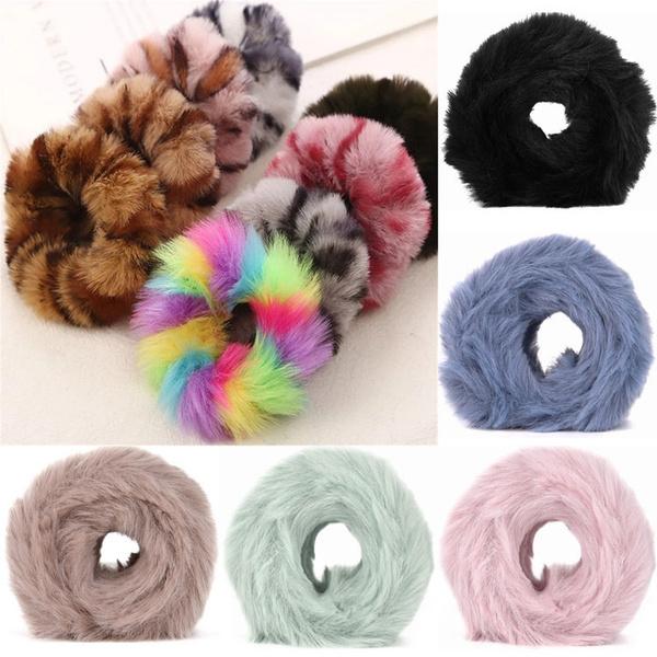 furhairrope, hairscrunchie, Winter, Elastic