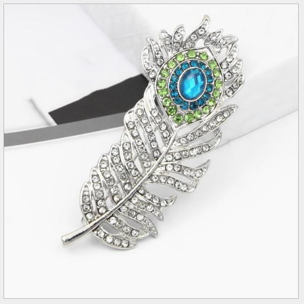 peacock, Fashion, Pins, Crystal
