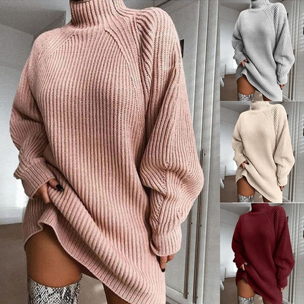 Fashion, Long Sleeve, Dress, knitted