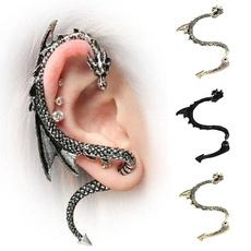 earringforwomen, punk earring, gold, 18 k
