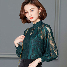 blouse, Plus Size, Shirt, Hollow-out