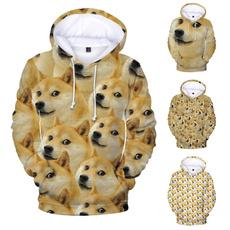 3D hoodies, Casual Hoodie, cute, dogepullover