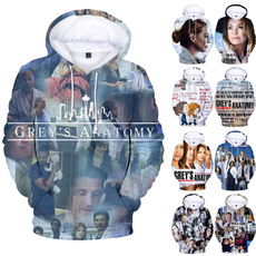 3d sweatshirt women, 3D hoodies, greysanatomy3dhoodie, greysanatomy