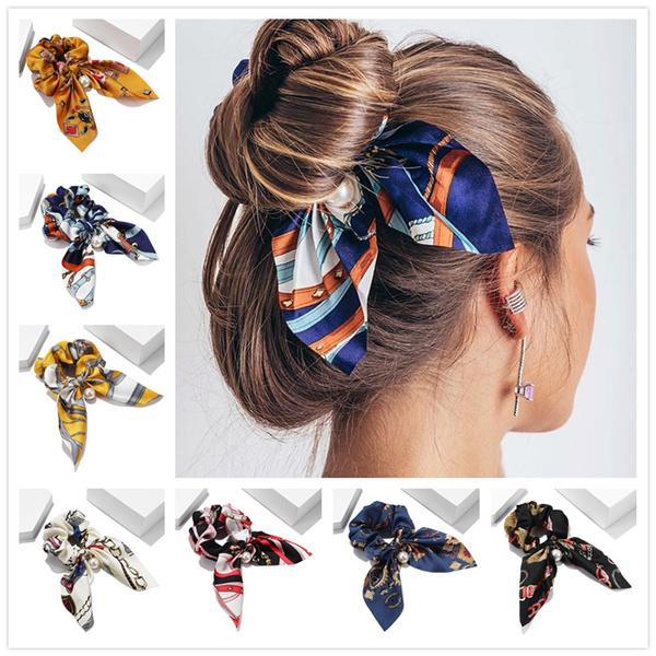 hair, hairscrunchie, chiffon, Elastic