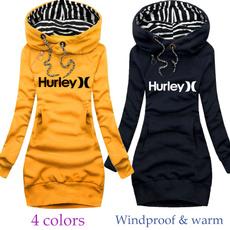 slim dress, hooded, sweater dress, Winter