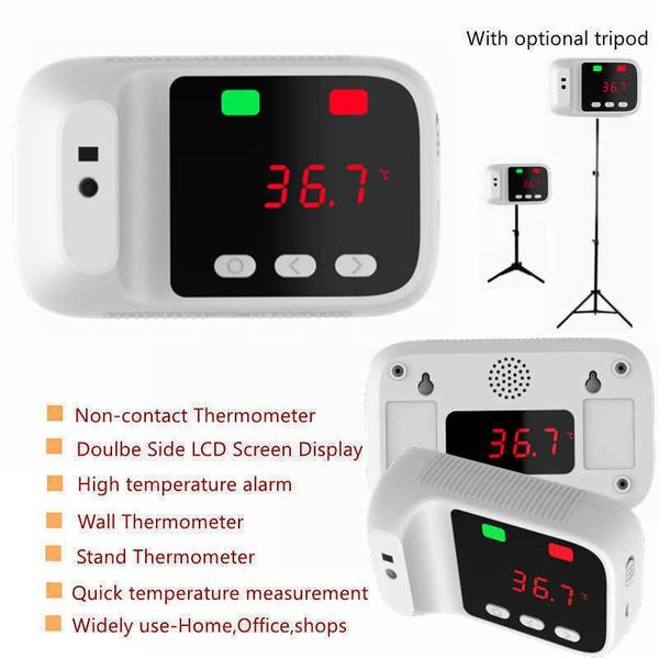 thermometerwithtripod, fever, noncontactthermometerforrestaurant, wallmountedinfraredthermometer