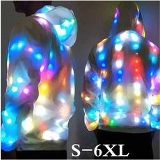ledcoat, hooded, illuminate, Colorful