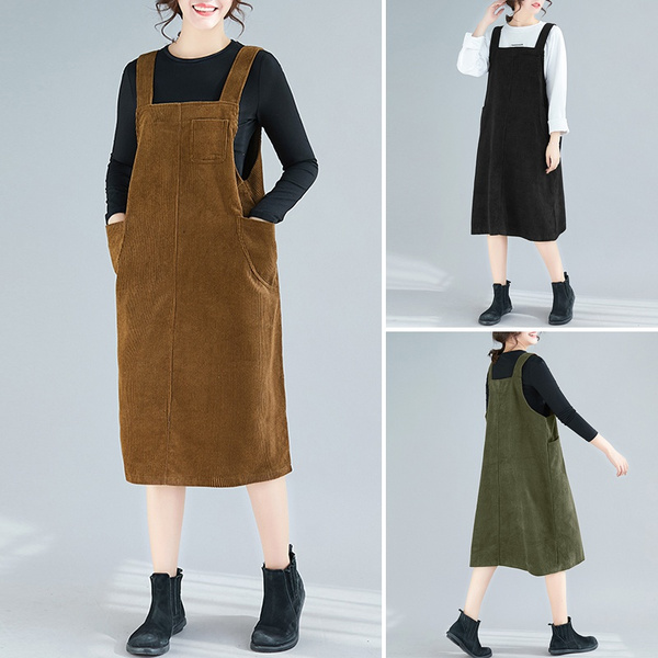 overallsdres, Vintage, Dress, Women's Fashion