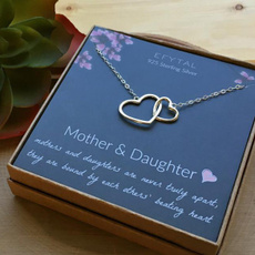 Sterling, Heart, Chain Necklace, motherdaughter