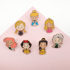 Beautiful, cute, brooches, maiden