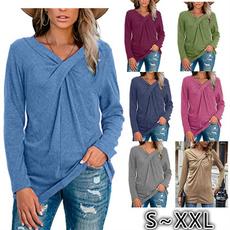 women pullover, Fashion, Long Sleeve, Cross