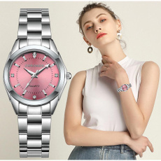 Steel, quartz, Casual Watches, Stainless Steel
