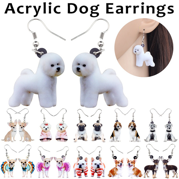 cute, earringsfordoglover, earringsforgirl, Acrylic