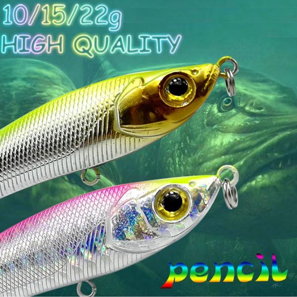 fishingluressaltwater, fishingbait, pencil, fishingrod