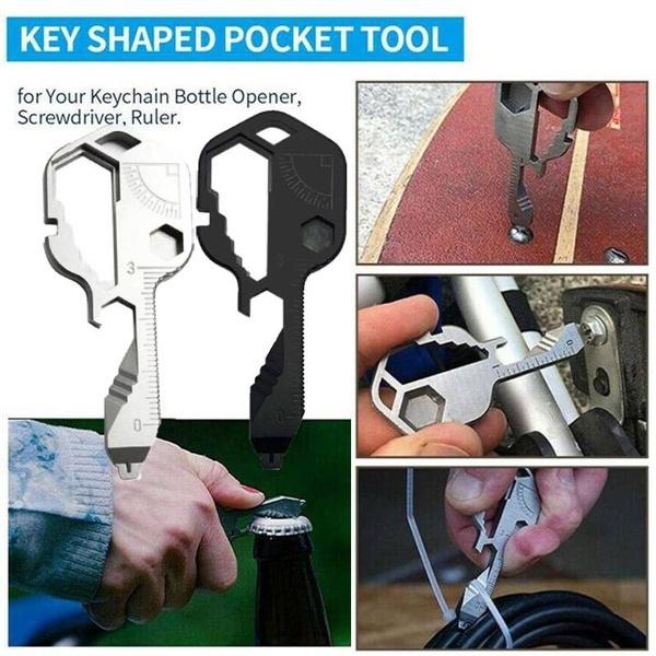 Steel, Key Chain, bottleopener, Survival