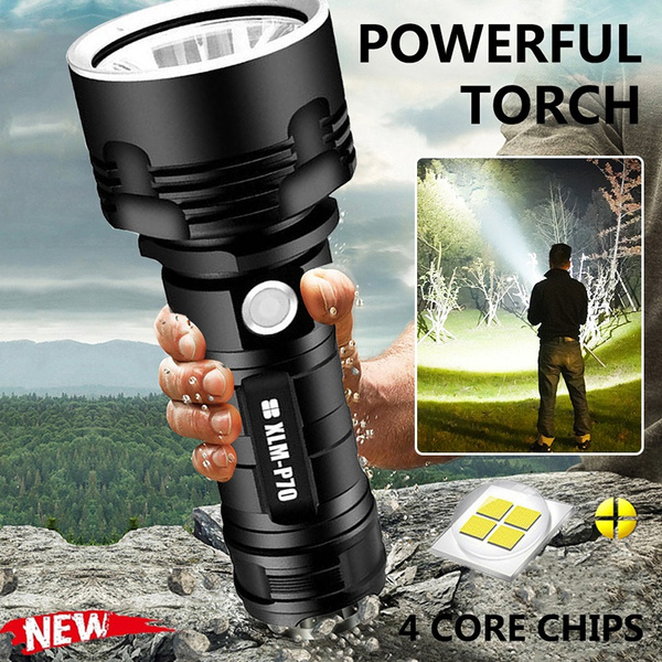 Flashlight, lampetorch, Bright, Rechargeable
