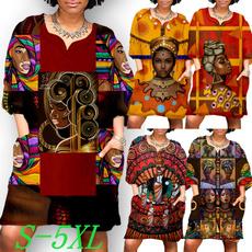 africanprint, Fashion, casual dress, Necks