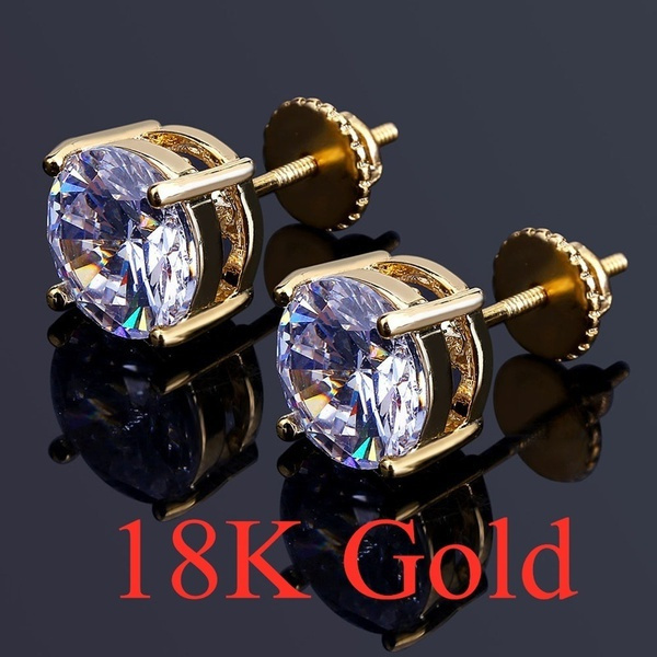 DIAMOND, Sapphire, gold, Stud Earring