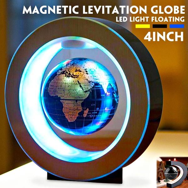 Decor, illuminatedmagneticglobe, automaticrotate, ledglobuslicht